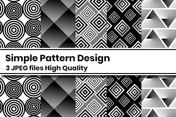 Print on Demand: Simple Pattern Design Graphic Patterns By Masyafi Creative Studio
