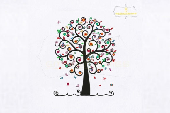 Social Work Tree Forest & Trees Embroidery Design By royalembroideries