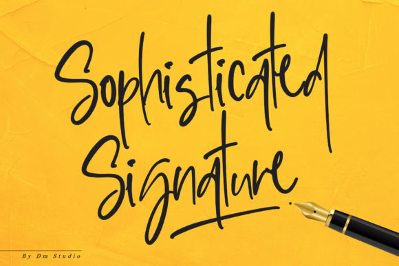 Print on Demand: Sophisticated Signature Script & Handwritten Font By dmletter31