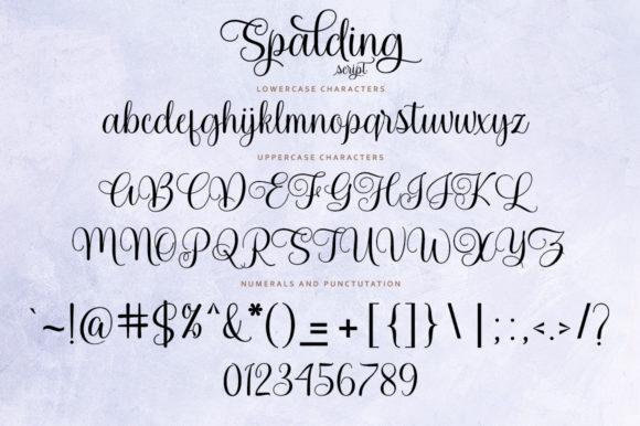 Spalding Font Preview