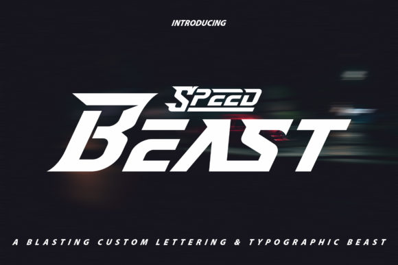 Print on Demand: Speed Beast Display Font By Vunira