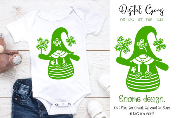 St Patrick's Day Gnome Design Graphic Crafts By Digital Gems