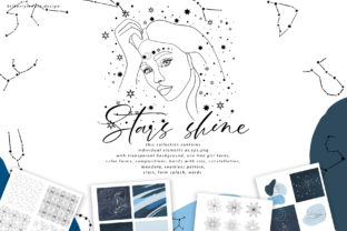Stars Shine Art Set Graphic Illustrations By BilberryCreate