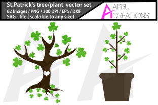 Print on Demand: St.patrick's Tree Silhouette St.patric Graphic Icons By aparnastjp