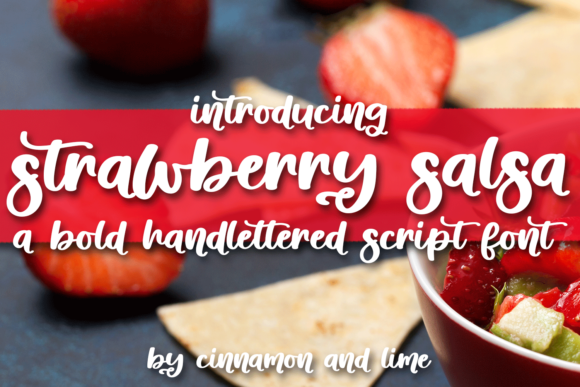 Print on Demand: Strawberry Salsa Script & Handwritten Font By Ursa Bratina - Image 1