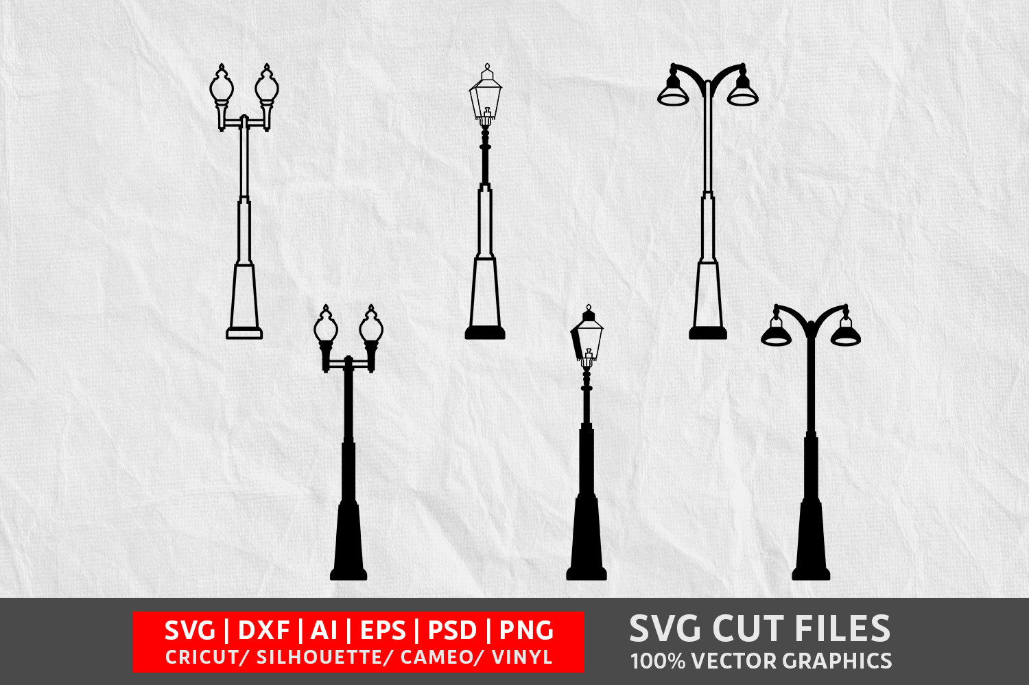 Download Free Street Lights Image Graphic By Design Palace Creative Fabrica for Cricut Explore, Silhouette and other cutting machines.