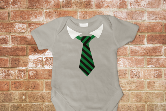 Striped Tie with Collar Graphic Crafts By DesignedByGeeks
