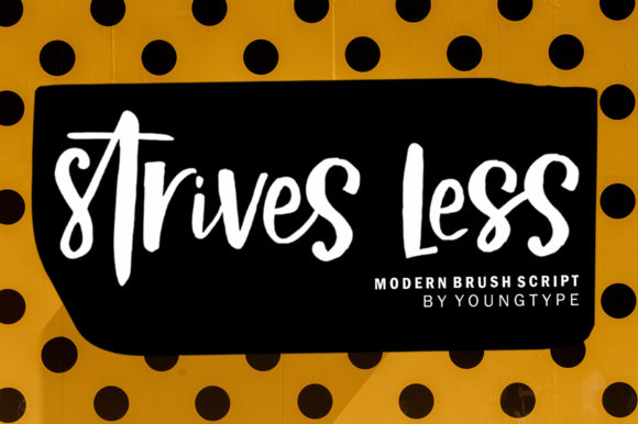 Print on Demand: Strives Less Script & Handwritten Font By Youngtype