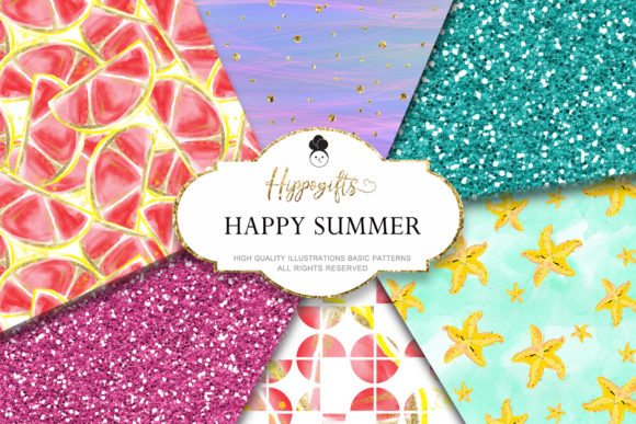 Summer Glitter Pattern Graphic Patterns By Hippogifts - Image 1