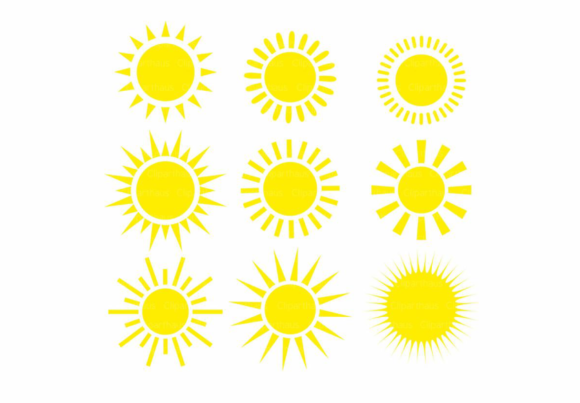 Download Free Sun Clipart Vector Graphic Graphic By Svg Den Creative Fabrica for Cricut Explore, Silhouette and other cutting machines.