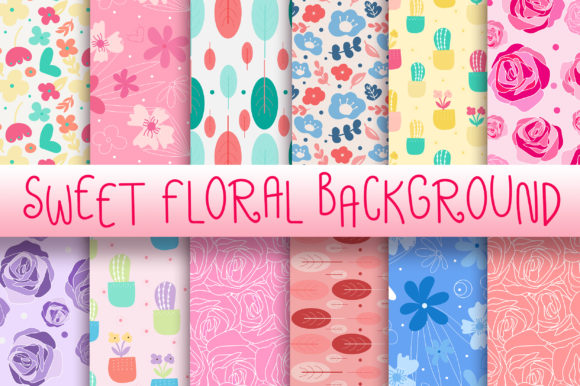Sweet Floral Background Graphic Backgrounds By PinkPearly