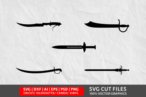 Download Free Sword Image Graphic By Design Palace Creative Fabrica for Cricut Explore, Silhouette and other cutting machines.