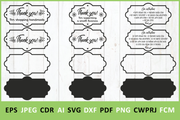 Download Free Thank You And Washing Instruction Graphic By Millerzoa for Cricut Explore, Silhouette and other cutting machines.