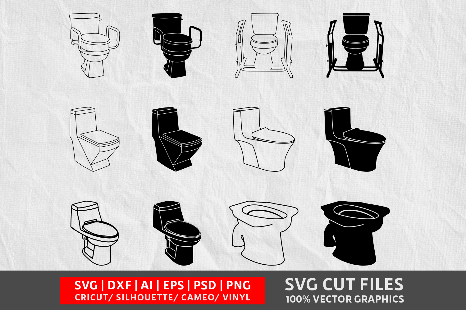 Download Free Toylet Commode Image Graphic By Design Palace Creative Fabrica for Cricut Explore, Silhouette and other cutting machines.