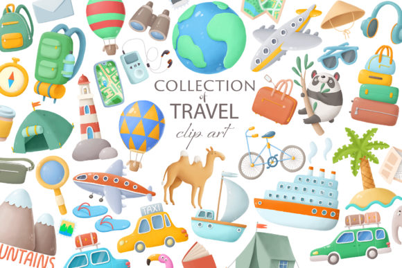 Print on Demand: Travel Clip Art Graphic Illustrations By Architekt_AT