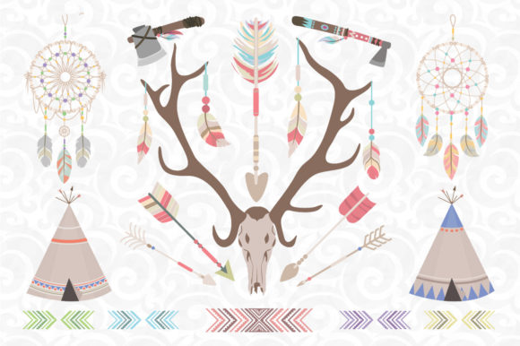 Print on Demand: Tribal Clip Art Graphic Illustrations By accaliadigital