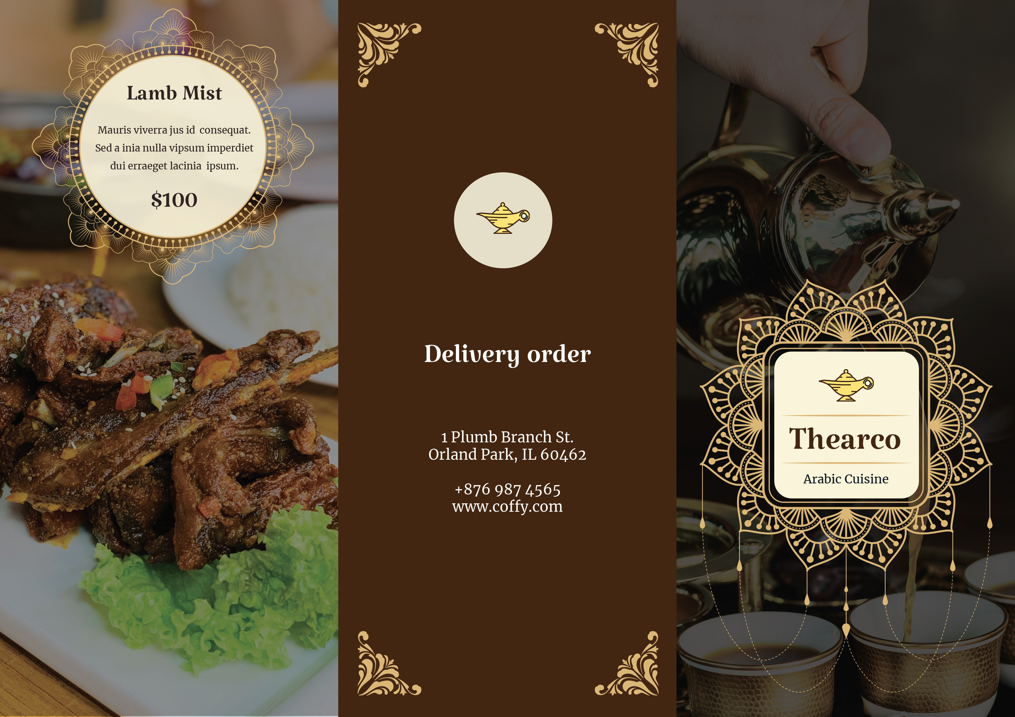 Download Free Trifold Restaurant Menu Graphic By Rideover6 Creative Fabrica for Cricut Explore, Silhouette and other cutting machines.
