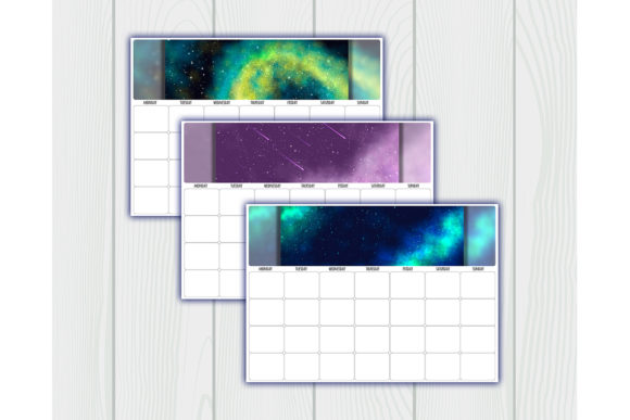 Print on Demand: Undated Printable Calendar Planner Graphic Crafts By bunart - Image 5