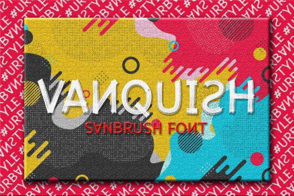 Print on Demand: Vanquish Display Font By Almeera Studio
