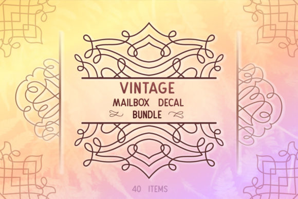 Download Free Vintage Decal Bundle 40 Graphic By Tatiana Cociorva Creative for Cricut Explore, Silhouette and other cutting machines.