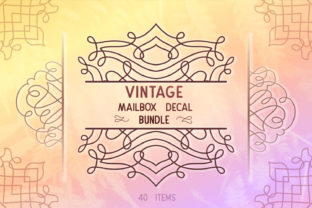 Print on Demand: Vintage Decal Bundle 40  Graphic Crafts By tatiana.cociorva