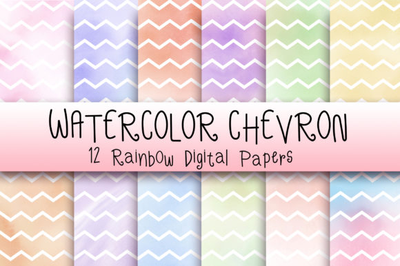 Download Free Watercolor Chevron Background Grafico Por Pinkpearly Creative for Cricut Explore, Silhouette and other cutting machines.