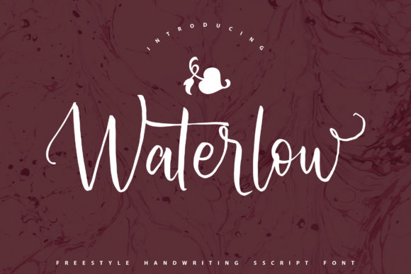 Print on Demand: Waterlow Script & Handwritten Font By Vunira