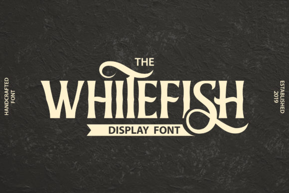 Print on Demand: Whitefish Display Font By Vunira - Image 1