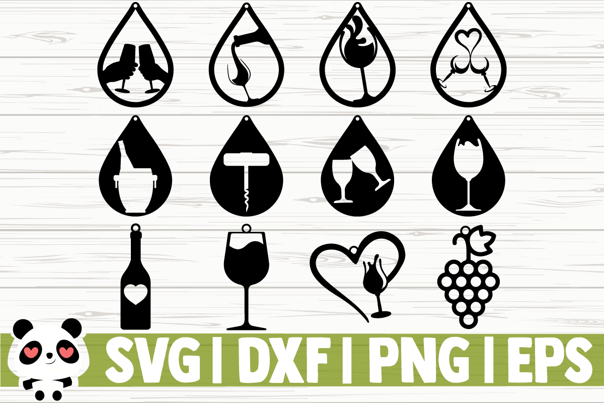Download Free Wine Earrings Graphic By Creativedesignsllc Creative Fabrica for Cricut Explore, Silhouette and other cutting machines.