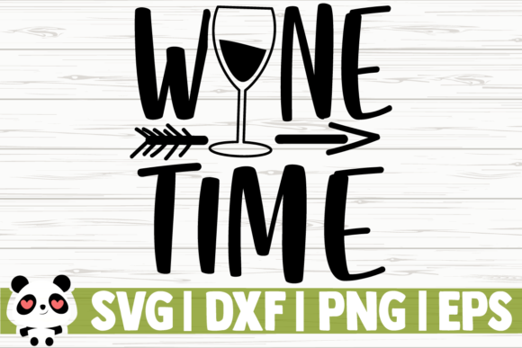 Print on Demand: Wine Time Graphic Illustrations By CreativeDesignsLLC