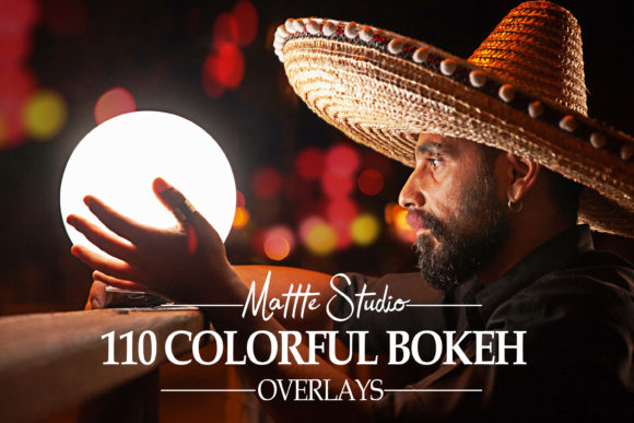 Print on Demand: 110 Colorful Bokeh Light Overlays Graphic Backgrounds By Mattte Studio