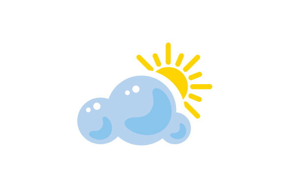 Download Free Partly Cloudy Weather Icon Svg Cut File By Creative Fabrica for Cricut Explore, Silhouette and other cutting machines.
