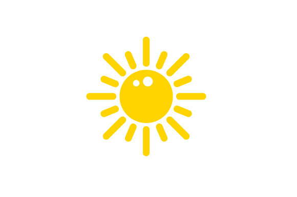 Sunny Weather Icon Designs & Drawings Craft Cut File By Creative Fabrica Crafts