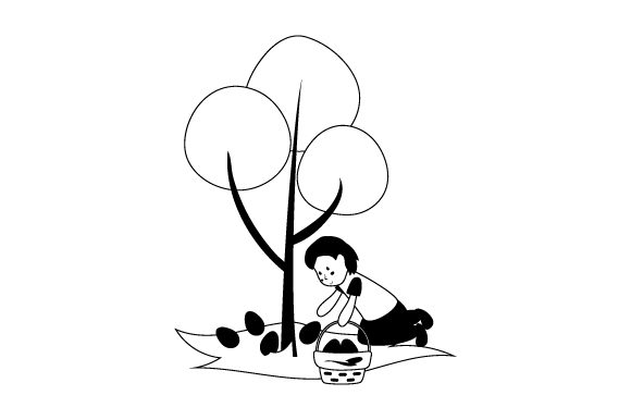 Download Free Easter Egg Hunter Svg Cut File By Creative Fabrica Crafts for Cricut Explore, Silhouette and other cutting machines.