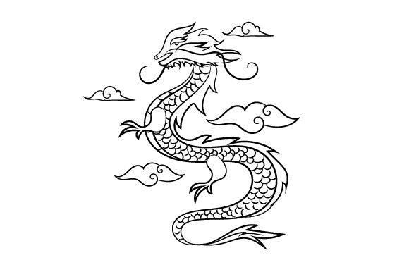 Download Free Chinese Dragon Svg Cut File By Creative Fabrica Crafts for Cricut Explore, Silhouette and other cutting machines.