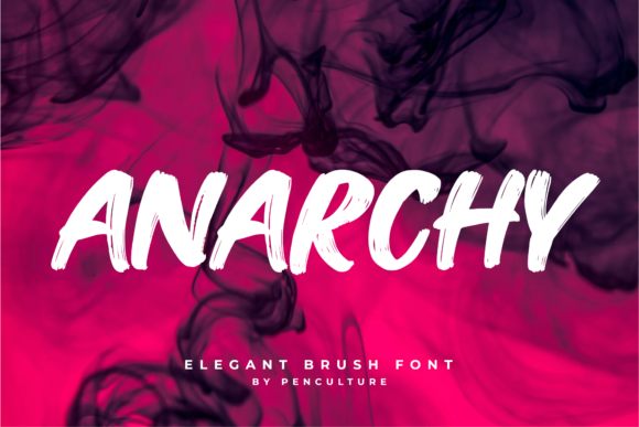 Print on Demand: Anarchy Display Font By Pen Culture