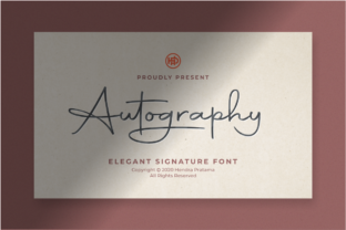 Print on Demand: Autography Script & Handwritten Font By hptypework