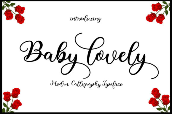 Download Free Baby Lovely Font By Saidi Studio Creative Fabrica for Cricut Explore, Silhouette and other cutting machines.