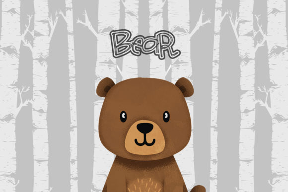 Print on Demand: Bear Nursery Art, Woodland Animal Graphic Illustrations By accaliadigital