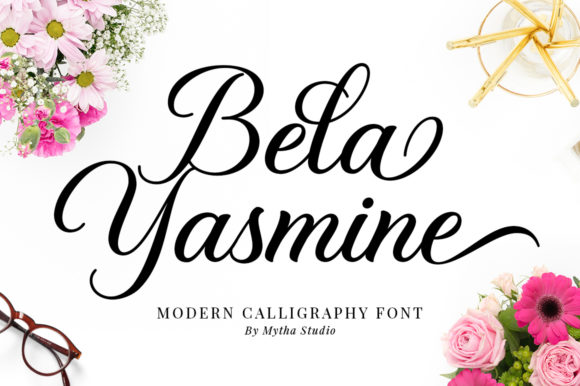 Print on Demand: Bela Yasmine Script & Handwritten Font By mythastudio