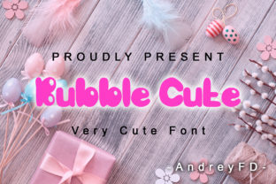 Print on Demand: Bubble Cute Display Font By andreyfontdesign