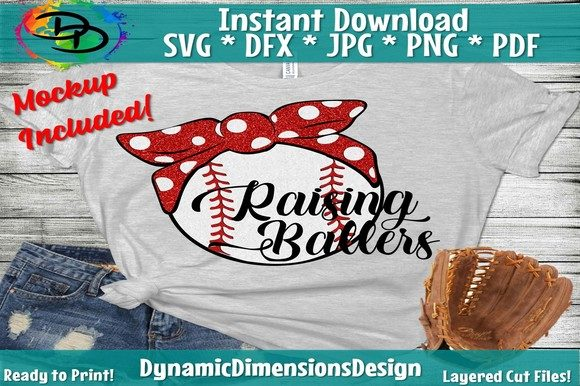 Download Free Busy Raising Ballers Baseball Graphic By Dynamicdimensions for Cricut Explore, Silhouette and other cutting machines.