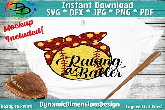 Download Free Busy Raising Ballers Softball Mom Graphic By Dynamicdimensions for Cricut Explore, Silhouette and other cutting machines.