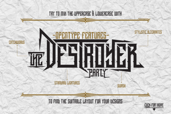 Print on Demand: Dramaga Blackletter Font By Dikas Studio
