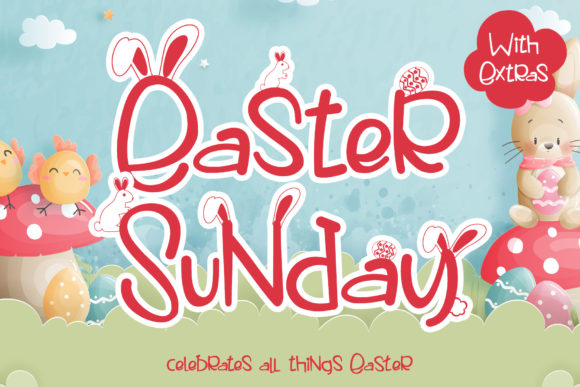 Print on Demand: Easter Sunday Script & Handwritten Font By thomasaradea