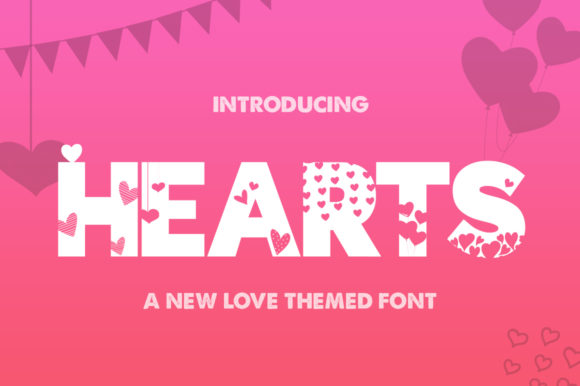 Print on Demand: Hearts Display Font By Salt & Pepper Designs