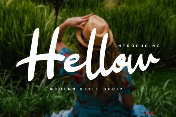 Print on Demand: Hellow Script & Handwritten Font By Vunira
