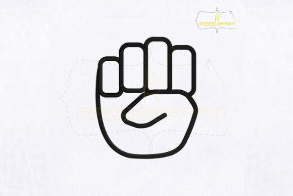 Letter E Hand Sign School & Education Embroidery Design By RoyalEmbroideries