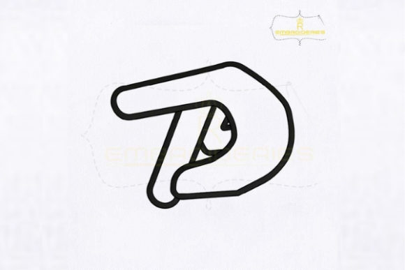 Letter P Hand Sign School & Education Embroidery Design By RoyalEmbroideries