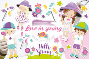 Print on Demand: Love in Spring Graphic Illustrations By Prettygrafik